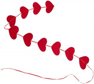 240pcs Red Hearts Garland Valentines Day Hanging String Garland 24 Pack (Each 7.5ft) Valentines Day Decorations Wedding Annivers