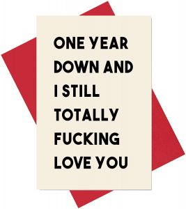 2nd Anniversary Card, Sweet Second Anniversary Card for Him or Her, The Best 2 Years of My Life