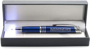 Policeman's Prayer Gift Pen with Built-In Flashlight and Stylus Tip – Gift for Law Enforcement Police Officers Cops