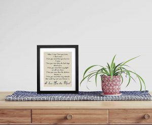 50 Years of Love Burlap Print with Frame, Gifts for Parents 50th Anniversary, 50th Wedding Anniversary, Golden Anniversary, Happ