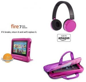 Fire 7 Kids Edition Tablet, 7″ Display, 16 GB, Pink Kid-Proof Case