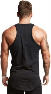 Mens Workout Stringer Tank Tops Fitness Performance Muscle Sleeveless Shirts Gym Training Bodybuilding Vest
