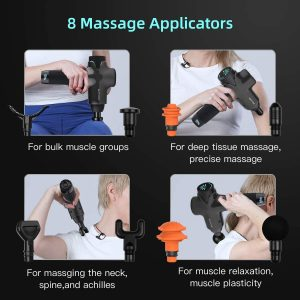Massage Gun Deep Tissue Percussion Muscle Massage for Pain Relief, Super Quiet Portable Neck Back Body Relaxation Electric Drill