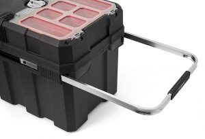 Keter – 241008 Masterloader Resin Rolling Tool Box with Locking System and Removable Bins – Perfect Organization and Storage C