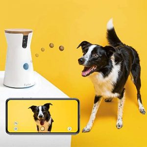 Furbo Dog Camera: Treat Tossing, Full HD Wifi Pet Camera and 2-Way Audio, Designed for Dogs, Compatible with Alexa (As Seen On E