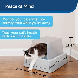 PetSafe ScoopFree Smart Automatic Self Cleaning Cat Litter Box – Smart Phone App Connected – Covered or Uncovered – Includes Dis